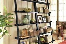 {ladder shelf decor}