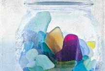 Reciclar vidrios de mar o de playa / Ideas creativas para reciclar o reutilizar los pequeños vidrios que se encuentran en la orilla de mar, para crear bisuterías, joyas y objetos para decorar