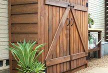 Portes pour abrit bois