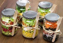 saladas no pote