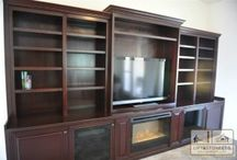 Arizona Custom Furniture / Over the years, we have created some fantastic custom offices and wall beds.  Our customers recognize our talents and have asked us to do other products around their house.  The most common requests are TV Credenzas and built in custom entertainment centers.