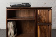 Record player cabinets