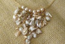 Collar cadena perlas