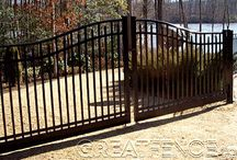 Estate Gates / Gorgeous single-swing and double-swing estate gates.  Perfect for any entrance.