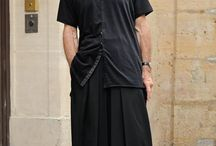 Street men's fashion / Especially in middle age