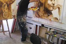 maalari työssä