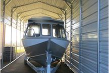 Metal Boat Covers / HCI Steel buildings customizes metal boat covers for any size boat you have.