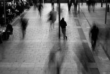 blurred people