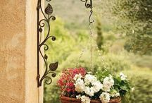 wrought iron pot plant holder