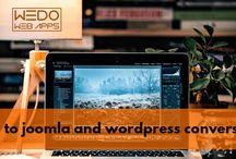 PSD to Joomla and Wordpress conversion