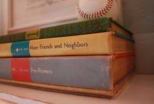 vintage school books / by Ruby Blevins