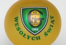bombka gks katowice / Bombka z logo klubu piłkarskiego GKS katowice