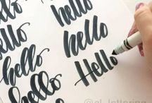 Hand lettering / Express your style with beautiful unique hand lettering. Ideal for Bullet Journaling and art. Hand lettering tutorials, how to hand letter, hand lettering ideas, hand-lettered fonts, bullet journal lettering ideas.