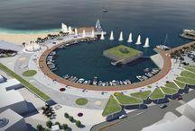 landscape architecture / square and port design at Elounda, Crete