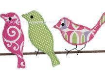 Embroidery Designs - Birds and Bugs, Turtles and Alligators