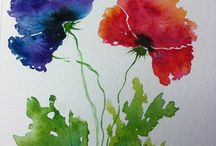 Watercolor - Flowers and Fruit