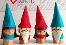 využití korku.. vánoční ozdoby