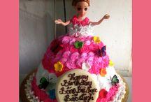 Bánh kem sinh nhật công chúa búp bê dễ thương