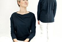 Cotton blouses - Navy Blue Water