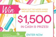 Cool contests and sweepstakes.