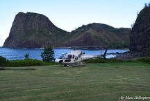 Oceanfront Landing / West Maui and Molokai flight with a private landing on the north shore of Maui