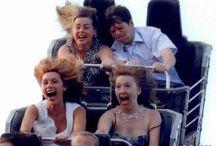 People on rollercoasters