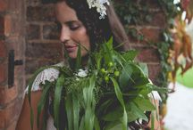 NATURAL WEDDING FLOWERS / Our very favourite floral style and colour palette of white and green. Natural just picked bouquets and whimsical styling. Lush foliage urns and abundant centrepieces.