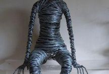 Wire sculpturen