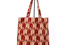 Sacs & Bags sustainable hand crafted / Handwoven block-printed cotton canvas bags