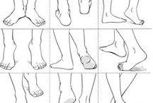 Drawing ref - legs & feet