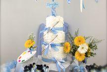 si vola…di fiore in fiore / #fiori #battesimo #babyshower #azzurro #