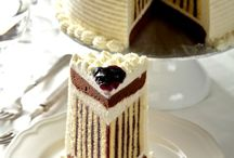 Cake decorating: How to make a striped cake masam manis: CHOCOLATE BLUBERRY ROULADE TORTE