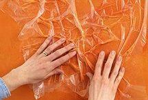 ŚCIANY DEKORACYJNE (malowanie, tynki) www.urbodomus.pl inspiracje