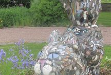 Garden  fun / Mosaic sculptures and towers