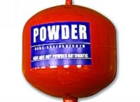 Automatic Fire Extinguisher / With portable size, easy installation and easy relocation services, these fire fighting equipment can be utilized for local applications or total flooding of hazards. These equipment work on sprinkler technology which is again accompanied with air tight nozzles.
