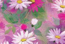 FLORAL✿Estampas / Prints / Patterns / Estampas e bordados , localizadas ou rotativas.