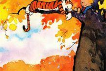 C&H / Calvin & Hobbes comic strip / by Atiqah Zailani