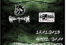2015 Ciemna Strona Miasta Klub Muzyczny Wrocław / Wydarzenia, które będą się działy w roku 2015 w Ciemnej Stronie Miasta Klubie Muzycznym we Wrocławiu. Gramy bez kompromisów tylko ciężką muzykę: metal, core, hard rock i gothic.