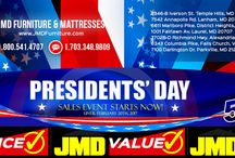 Presidents Day Sales Event! / Presidents Day Sales Event is on! Get up to 50% discount from MSRP. Dining, Living and Bedroom sets are on sale. Event ends on February 21st, 2017