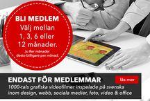Grafisk Design / Grafiska videokurser för medlemmar.