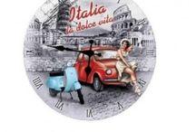 A l'heure d'hiver / Pensez à décorer votre cuisine avec une belle horloge murale  Vespa, Fiat 500 ou 2 CV