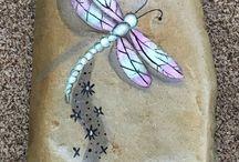 Fairy land-painted rocks