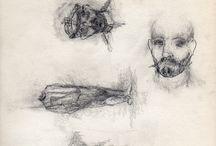 Dibujos 2 - 1988 / Bocetos a lápiz sin modelo