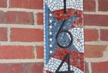 Mosaic Address Plaques
