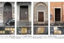 Rome Jewish Quarter / Rome Ghetto and Jewish Quarter showing the so called stolperstein marking the Jews deported from the houses to Auschwitz  Photos by Auschwitz Study Group Founder, Michael Challoner 2015