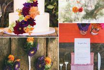 Fall colour paletts wedding