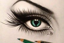 Eyes art colors