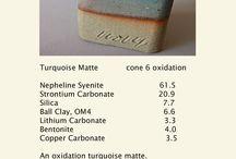 Glazes: Cone 6 Oxidation / Glaze Recipes / by Heidi Hunter