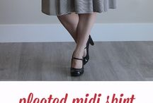Pleat skirt pattern and sewing instructions