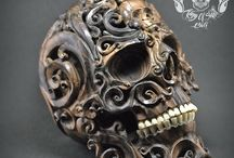 Biger than Live Size, Carved Human Skull Filigree from Arang Wood / RARE Oddities One Of Kind Detail Bigger Than Live Size Hand Carved Rarest Arang Wood into Realistic Human Filigree Skull With Teeth Made From Buffalo Bone Great Halloween Gift and For Home Decor Find this skull on Etsy